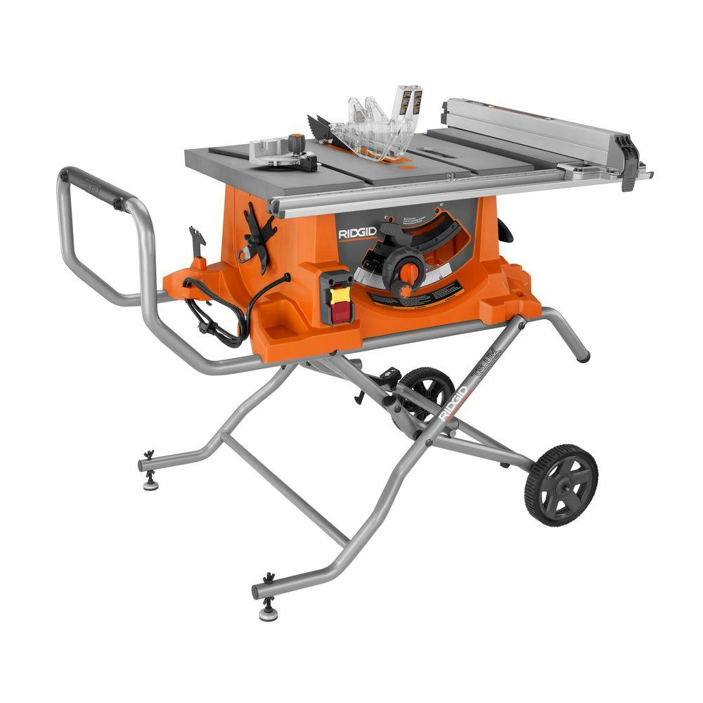Ridgid r4513 review table saw central ridgid r4513 portable table saws greentooth Images