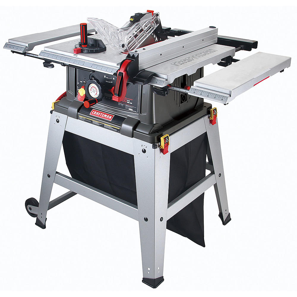 Craftsman 21807 portable table saw review table saw central craftsman 21807 greentooth Images