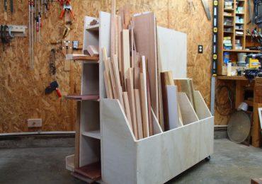 Steve Ramsey Mobile Timber Storage Cart