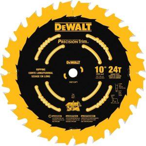 DEWALT DW7124PT 10-Inch 24 Tooth ATB Ripping Saw Blade