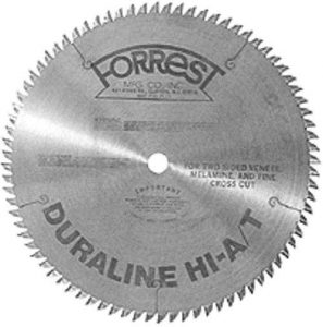 Forrest DH10807100 10-Inch 80 Tooth HI-A/T Thin Kerf Melamine and Plywood Cutting Saw Blade