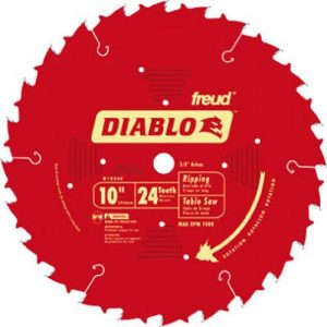 Freud D1024X Diablo 10-Inch 24-Tooth ATB Ripping Saw Blade