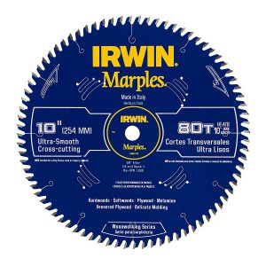 "Irwin Tools 1807370 10"" 80T Hi-ATB Table Saw Blade"
